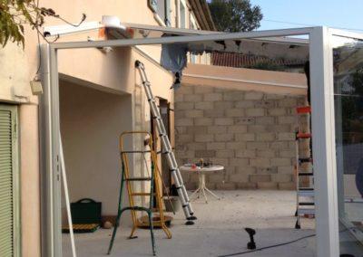 Réalisation d'une véranda extérieure