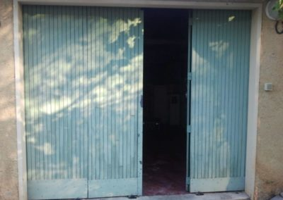 Remplacement de porte de garage à battants